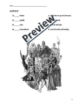 A-Z Greek Mythology Assessment