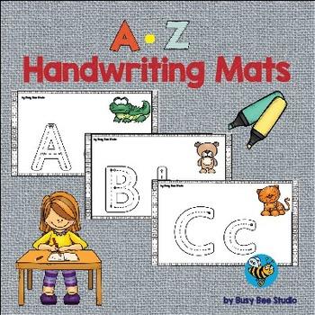 ESL A-Z Handwriting Mats