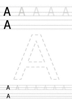 A-Z Handwriting Practice For Kindergarten and PreK