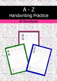 A-Z Handwriting Practice For Kindergarten and PreK