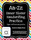 A-Z Handwriting Practice - Zaner Bloser Uppercase & Lowercase
