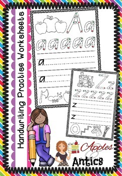 A-Z Handwriting Practise Sheets