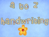 A-Z Handwriting Printables