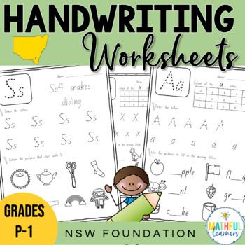 Alphabet nsw foundation font teaching resources teachers pay teachers a z handwriting sheets nsw foundation font fandeluxe Choice Image