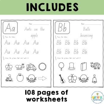 A-Z Handwriting Sheets - NSW Foundation Font by Alison Hislop | TpT