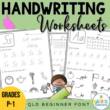 A Z Handwriting Sheets Qld Beginner Font By Alison Hislop Tpt