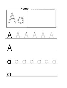 a z handwriting worksheets by nicole malicki teachers pay teachers. Black Bedroom Furniture Sets. Home Design Ideas