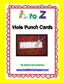 A-Z Hole Punch Cards {Letter Recognition and Fine Motor Strength!}