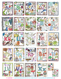 A-Z Illustrated Vocabulary Word Wall, Displays, Coloring Pages