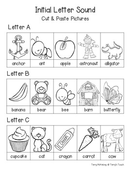 A-Z Initial Sound & Capital Letter Cut-Out