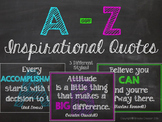 A-Z Inspirational Quote Posters