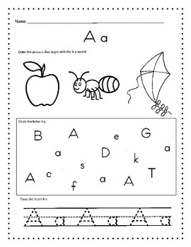 Alphabet Worksheets / Morning Work, Daily Work or Homework by Kelly ...