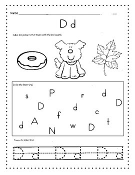 Alphabet Worksheets / Morning Work, Daily Work or Homework