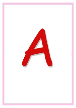 A-Z Large Flashcards