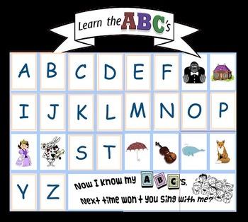 A-Z ABC Large Classroom POSTER 84cm X 60cm