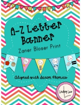 A-Z Letter Banner in Zaner Bloser