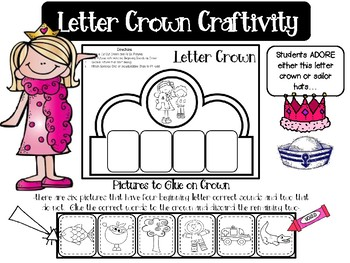 A-Z Letter Crowns & Sailor Hats Craftivities