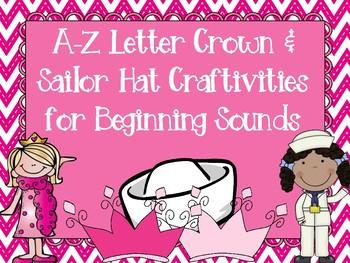 A-Z Letter Crowns & Sailor Hats Craftivities