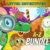 Alphabet Mystery Activities - BUNDLE - A-Z Letter Worksheets