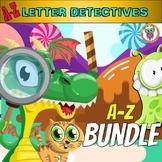 Alphabet Mystery Activities - A - Z Letters BUNDLE - Alphabet Worksheets