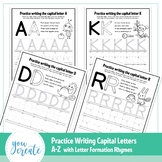 A - Z Letter Formation CAPS | Tracing Capital A - Z | Lett