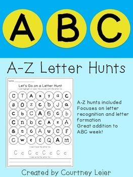A-Z Letter Hunts - No Prep!