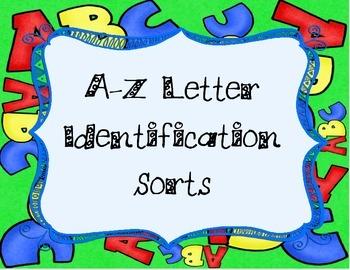 A-Z Letter Identification Sorts