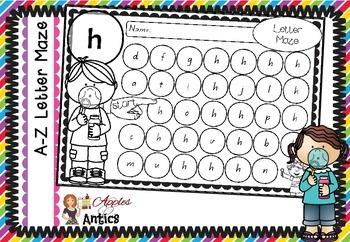 A-Z Letter Mazes