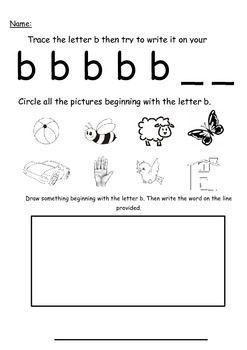 A-Z Letter Phonic Worksheet