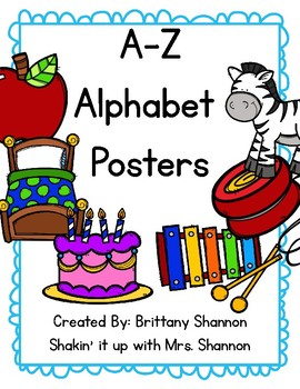 A-Z Letter Posters Manuscript