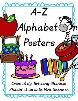 A-Z Letter Posters- Modern Manuscript