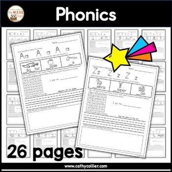 A-Z Letter Practice Pages:  Set 1