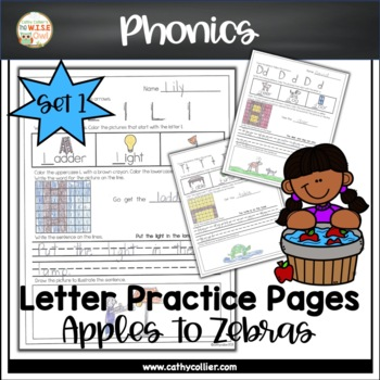 Apples to Zippers: Letter Practice Pages Set 1