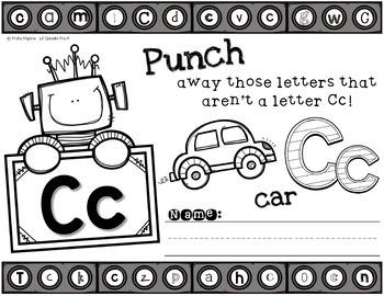 A-Z Letter Printables - Punch It Out - PreK, Kindergarten, Preschool