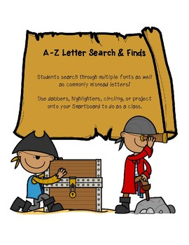 A-Z Letter Search & Finds for Letter Recognition Fluency