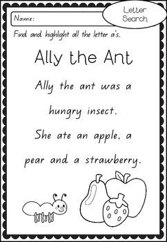 A-Z Letter Search - Short Text Passages