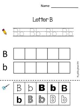 A-Z Letter Sort NO PREP Packet(Cut & Paste)