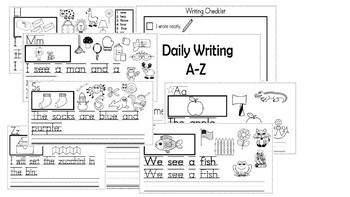 A-Z Letter Themed  Weekly Writing Packets