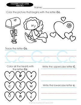 A-Z Letter Trace VALENTINE'S DAY Worksheets