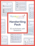 A-Z Letter, Uppercase & Lowercase, Handwriting Pack for Pr