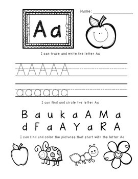 A-Z Letter Worksheets