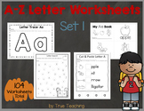 A-Z Letter Worksheets (Set 1)
