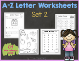 A-Z Letter Worksheets (Set 2)