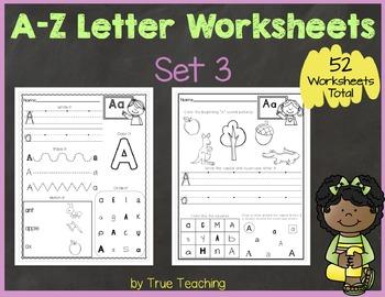 A-Z Letter Worksheets (Set 3)