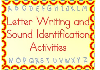 Letter Handwriting Practice Packet with Cut & Paste Letter-Sound Activities