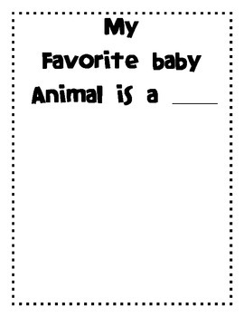 Reading A-Z Level A Baby Animals