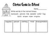 Reading A-Z Level A Carlos Goes to School