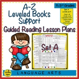 A-Z Leveled Books Support:  Guided Reading Lesson Plans Set A (Levels aa-M)