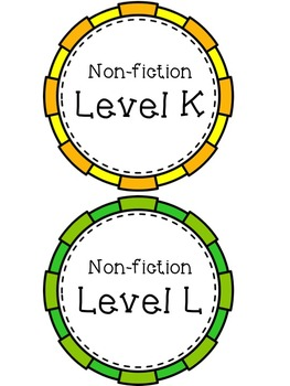 A-Z Leveled Library Non-fiction book stickers