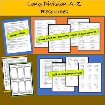 A-Z Long Division Guided Packet: Differentiated Practice & Assessments